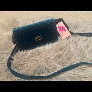 NWT Betsy's Johnson cross body wallet purse
